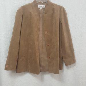 HALSTON ULTRA SUEDE Jacket Sz 12